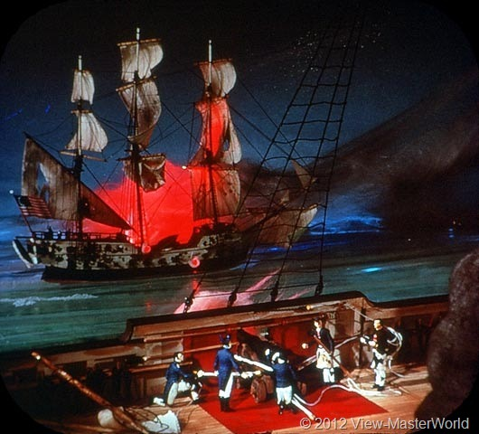 View-Master The Revolutionary War (B810), Scene C5: John Paul Jones' Sea Battle