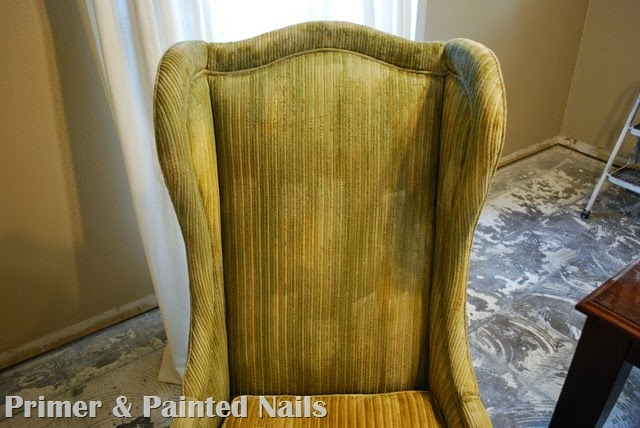 Tall Wingbacks Paint Fail - Primer & Painted Nails (3)
