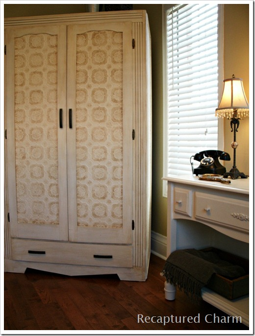 wallpapered armoire 022a