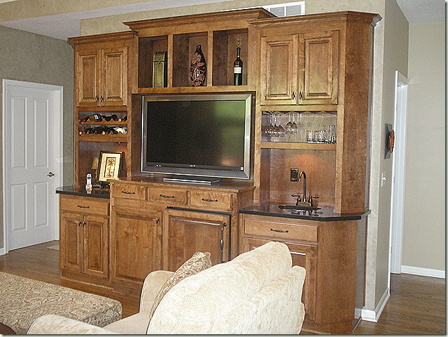 Entertainment Center Bar, countertops, Black Galaxy, granite, copper sink, hearth room, IR repeater