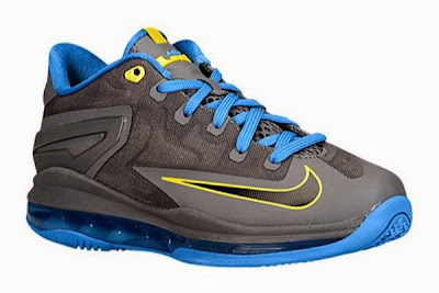 nike lebron 11 low gs black blue yellow 1 01 Nike LeBron 11 GS Black / Photo Blue / Tour Yellow Available