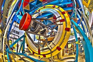 DECam montada no telescópio