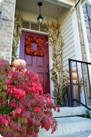 brick red front door