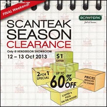 Scanteak Season Clearance Sale 2013 Singapore Deals Offer Shopping EverydayOnSales
