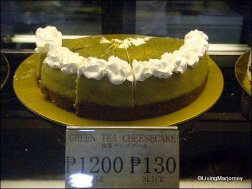 Akiba Cafe: Green Tea Cheesecake