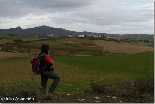 Vista de Muez y del campo de la batalla de Valdejunquera