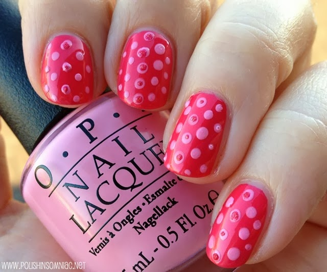 polish insomniac opi minnie mouse nail art 1