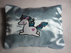 Sweet Dreams Embroidered Unicorn Herbal Sleep Pillow