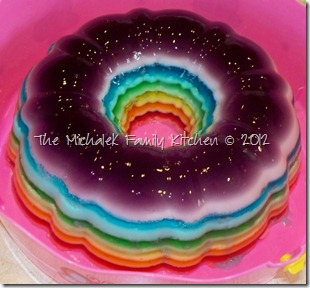 The Michalek Kitchen: Rainbow Ribbon Gelatin Salad