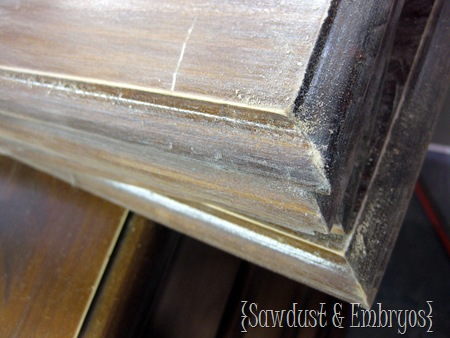 Sanding furniture in preparation for painting! {Sawdust and Embryos}