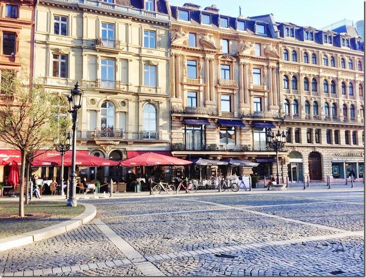 Germany - Frankfurt Frankfurter Romer Frankfurt on foot walking tour