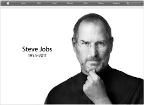 Nota na Apple.com sobre o falecimento de Jobs.