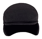 Wool poly ivy cap with ear flap