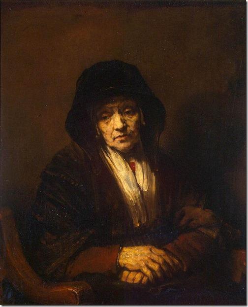 rembrandt - portret starej kobiety
