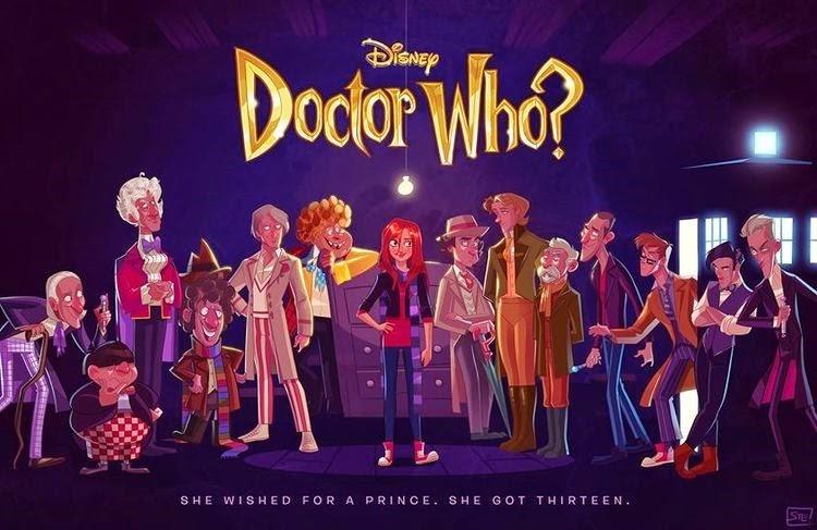 Disney Doctor Who by Stephen Byrne via GeekTyrant