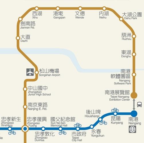 台北捷運內湖線圖示