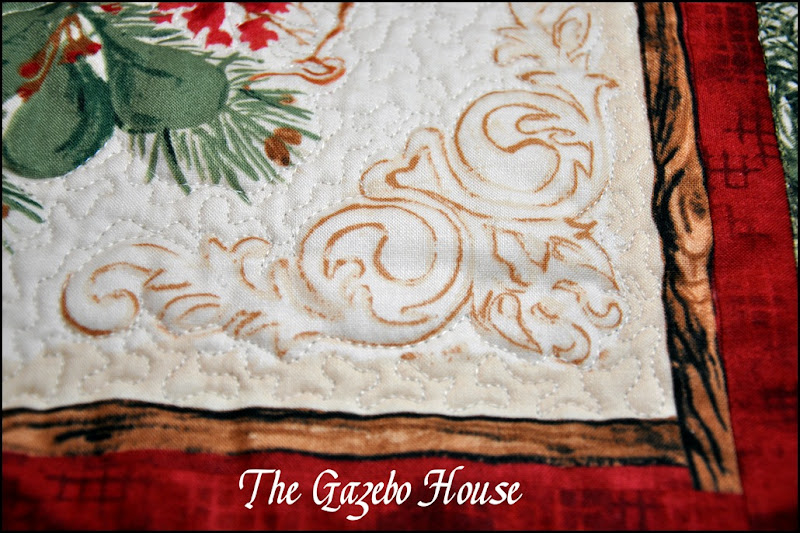 Chicadee quilted wallhanging 008