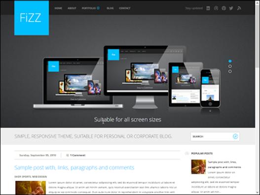 Fizz Responsive Blogger Teması