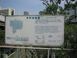 One of the explanatory signs in the Shibaura Water Reclamation Center