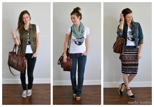 3 cute ways to style a graphic tee! // www.maybematilda.com
