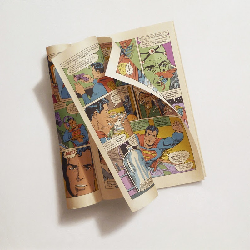 Sharon Moody's Photorealist Paintings of Comic Books