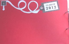 Katies graduation book  red page inside cover1