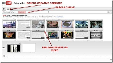 editor video di youtube creative commons