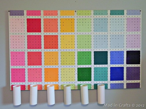 project runway inspired pegboard