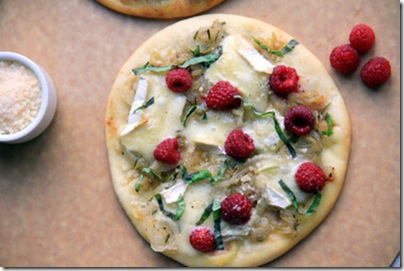 Raspberry Brie Pizzas 1
