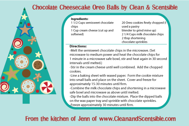 Chocolate Cheesecake Oreo Balls by Clean & Scentsible