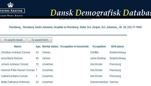 1845-Danish Census Schleswig-Conrad