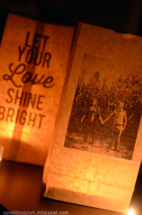cheap craft diy printed paper bag luminaries wedding decor