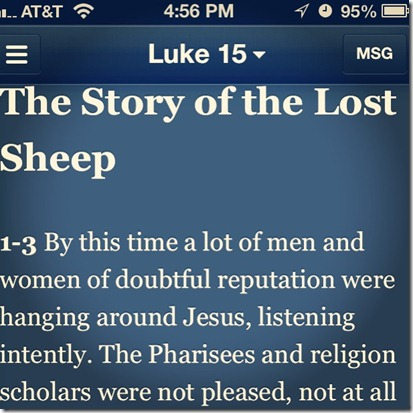 iPhone Bible App - The Message Version