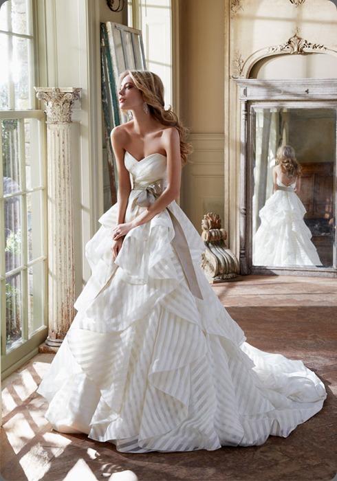 wedding dress hayley-paige-bridal-organza-strapless-ball-gown-sweetheart-neckline-full-sash-natural-waist-chapel-train-6315_zm  jlm couture
