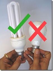 Se recambiarán lámparas incandescentes por las de bajo consumo