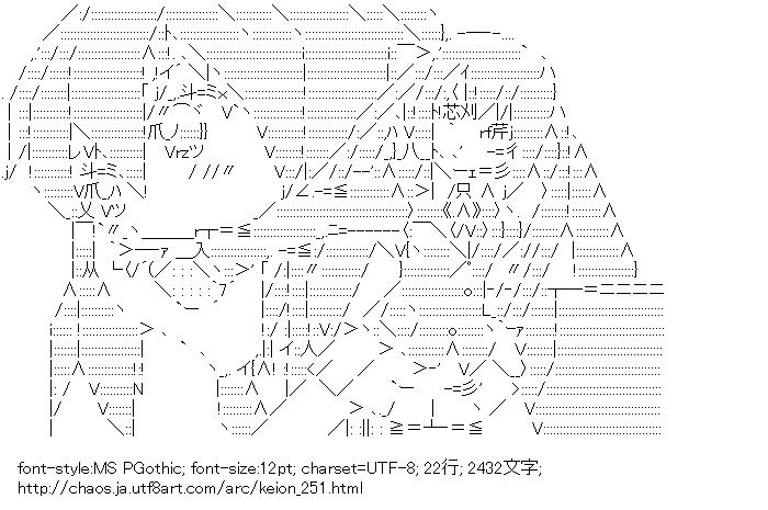 [AA]中野梓(けいおん!) 張五飛ver.
