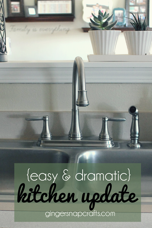 easy & dramatic kitchen update at GingerSnapCrafts.com