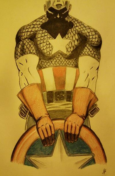 Capitán America, Fan Art de Dolores Hernández