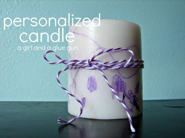 Personalized Candle Kids Craft