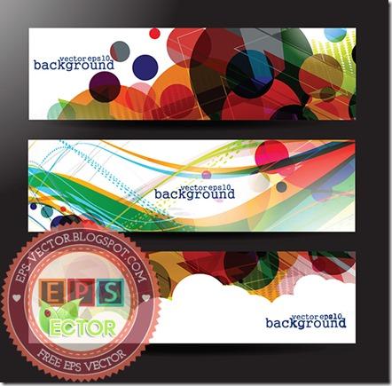 vector abstract banner web design