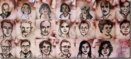 portrete in palma cu ata si ac