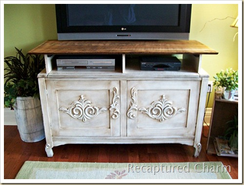wooden entertainment unit after 049a