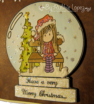Bugaboo stamps - Ava Snow Globe - C.R.A.F.T Challenge GDT - Ruthie Lopez. 3