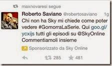 Roberto Saviano pubblicizza Sky Online