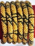 rollover bracelet golden stripe black
