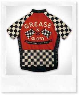 Greaser Back View of Cycling Jersey