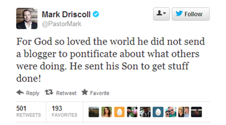 mark driscoll is a douchebag