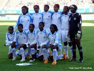 Les Léopards dames-foot au mondial -Chili 2008. Radio Okapi/ Ph. Nana Mbala