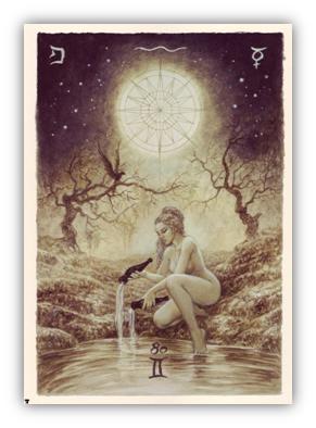 La Estrella. Tarot labyrinth