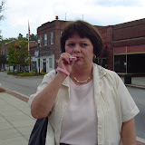 Bonnie smokes a cigarette in Elloree